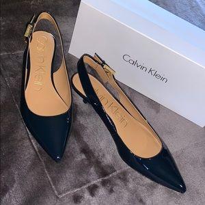 NIB Calvin Klein Luka Deep Navy Slingback Size 9.5